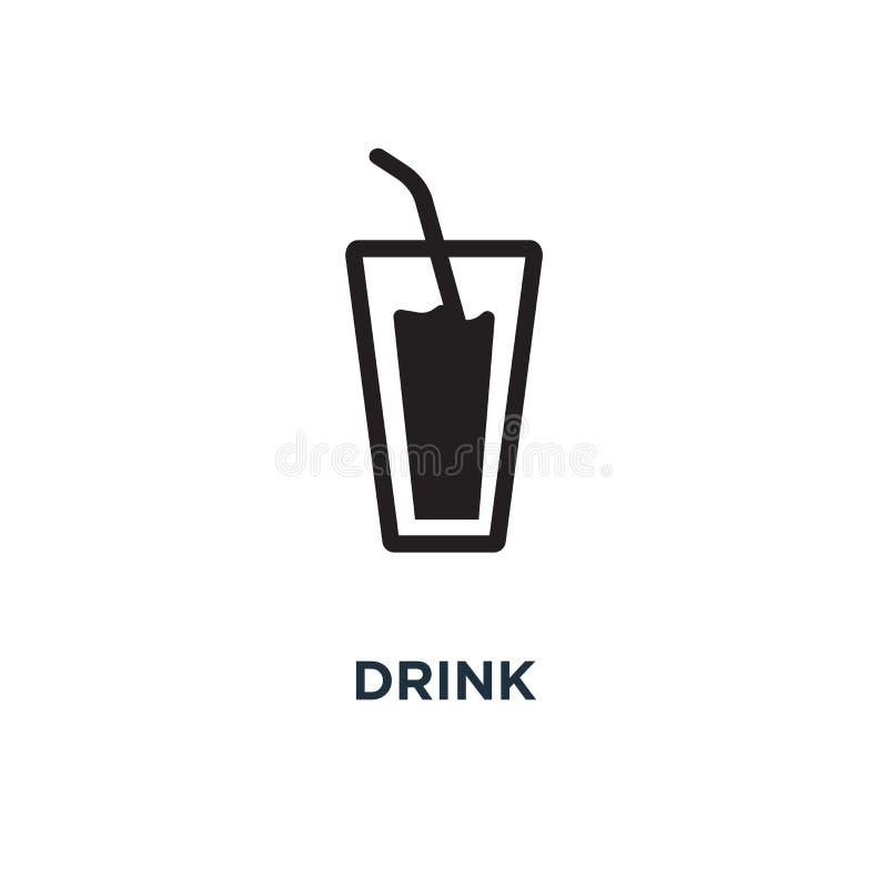 значок значков напитка стекло пива, кофейная чашка, вино, сода и сок b иллюстрация вектора
