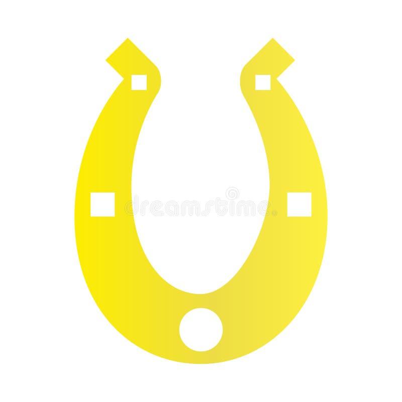 Значок золота ботинка лошади на предпосылке для графика и веб-дизайна Простой знак вектора Символ концепции интернета для вебсайт иллюстрация штока