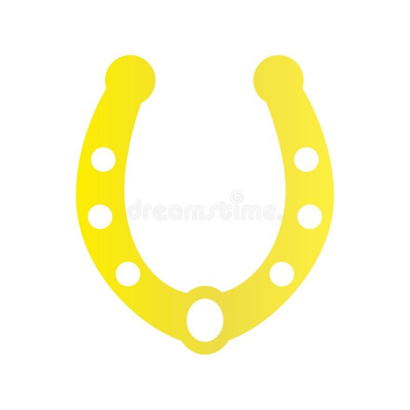 Значок золота ботинка лошади на предпосылке для графика и веб-дизайна Простой знак вектора Символ концепции интернета для вебсайт бесплатная иллюстрация
