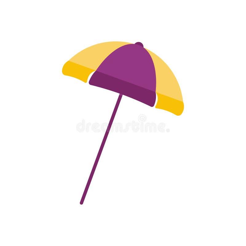 Значок зонтика пляжа бесплатная иллюстрация