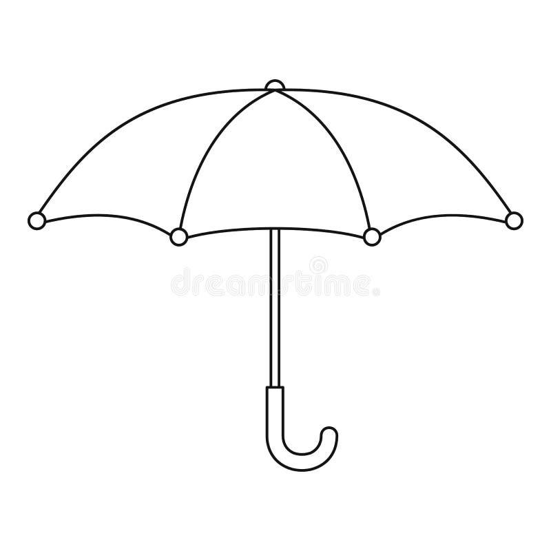 Значок зонтика, стиль плана иллюстрация штока
