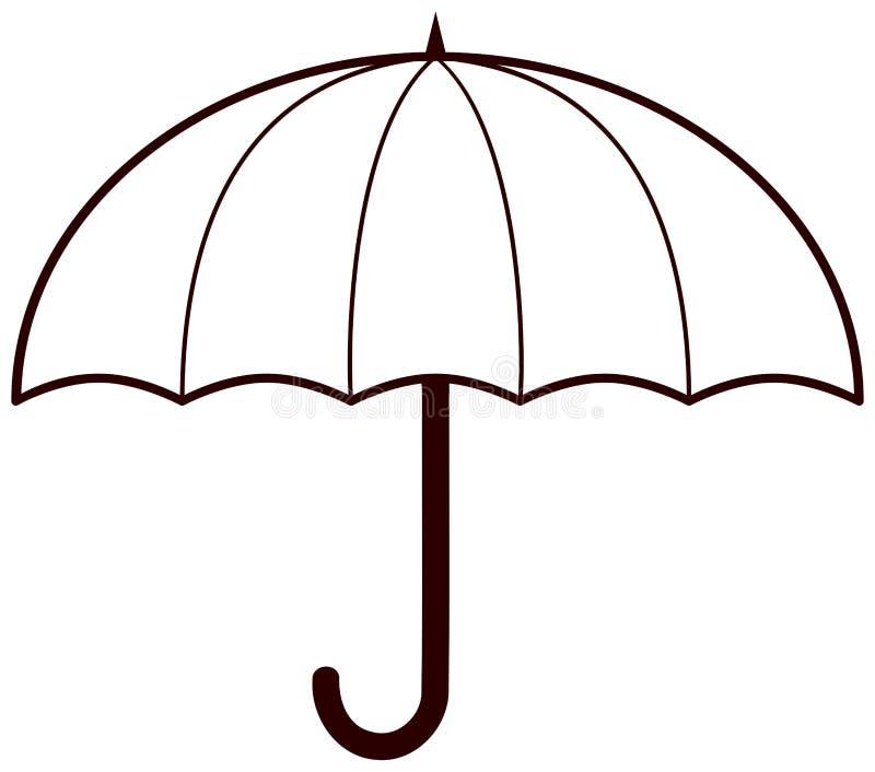 Значок зонтика иллюстрация вектора