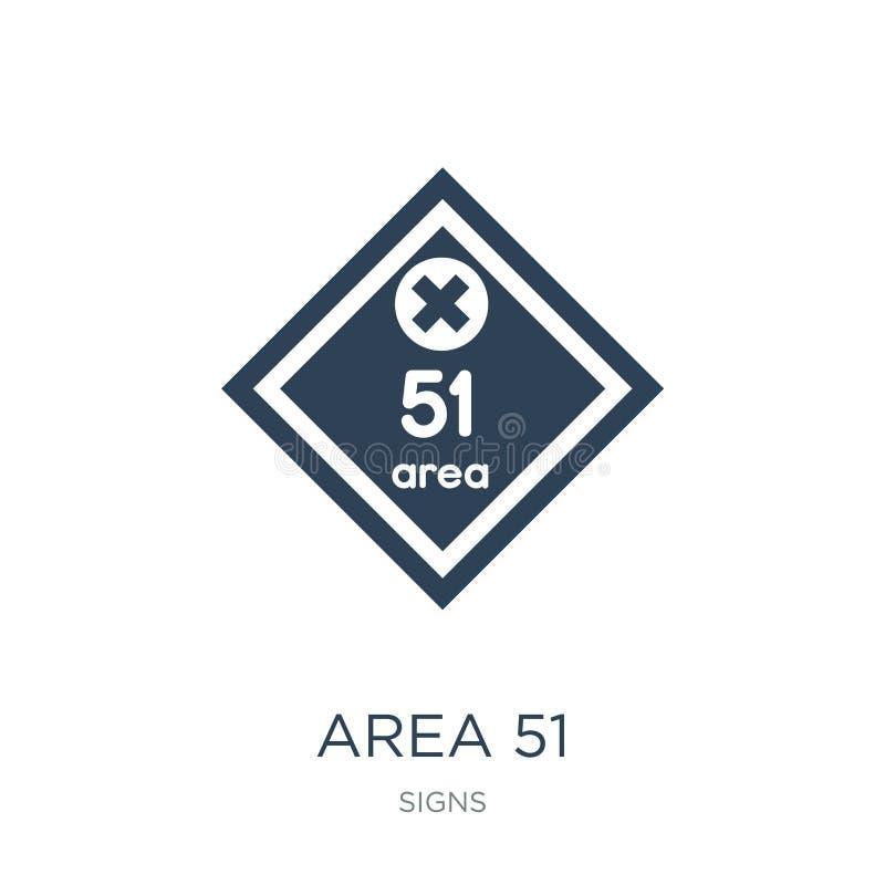 значок зоны 51 в ультрамодном стиле дизайна значок зоны 51 изолированный на белой предпосылке символ значка вектора зоны 51 прост иллюстрация вектора