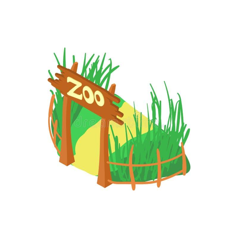 Значок зоопарка, стиль шаржа иллюстрация штока