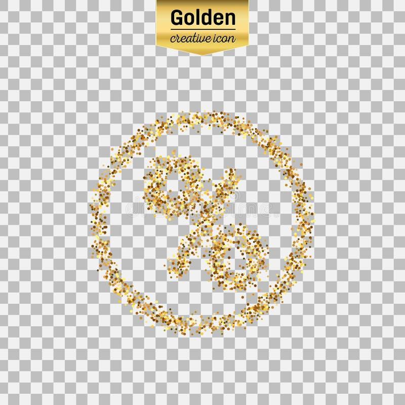 Значок золота вектора иллюстрация штока