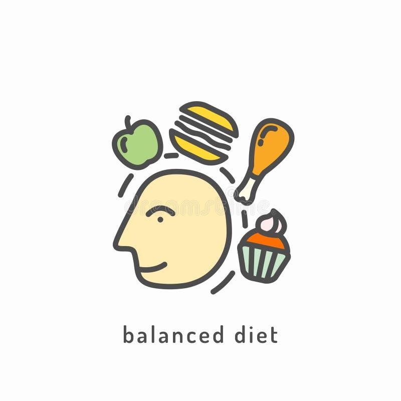 Значок здорового питания бесплатная иллюстрация