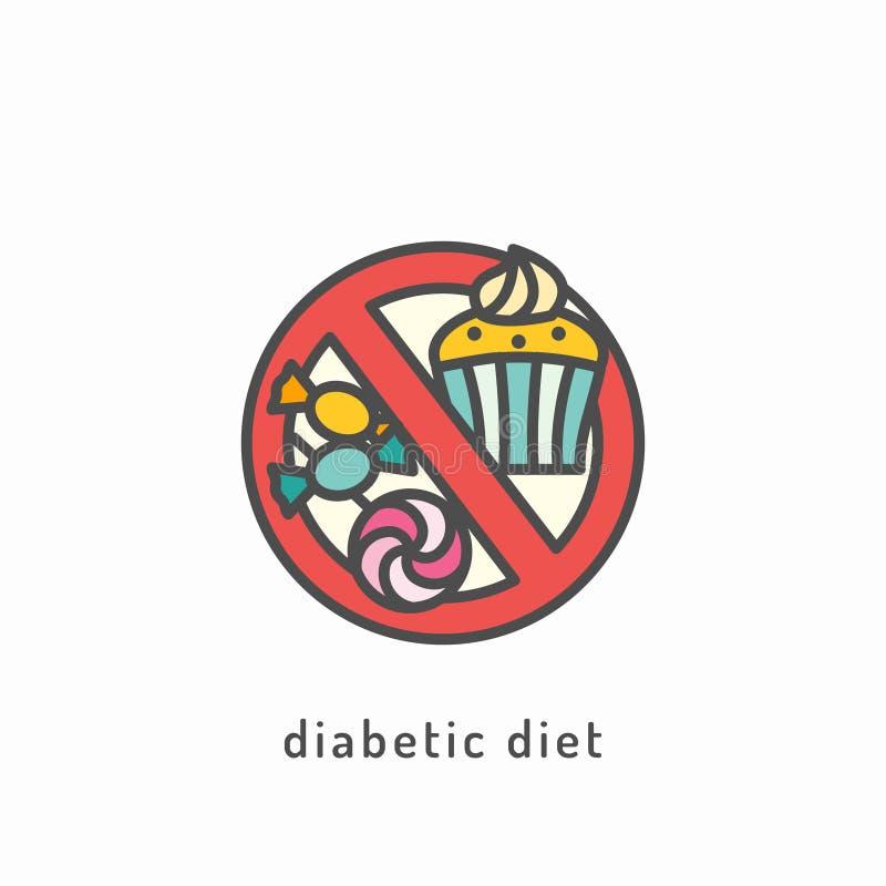 Значок здорового питания иллюстрация штока