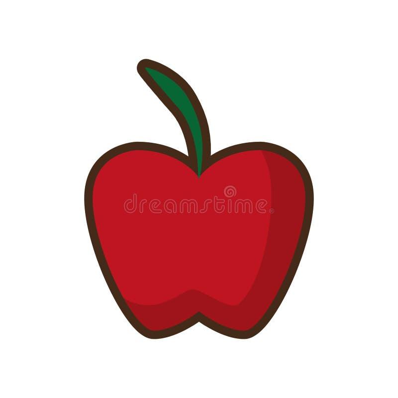 Значок здоровья плодоовощ Яблока desing иллюстрация штока