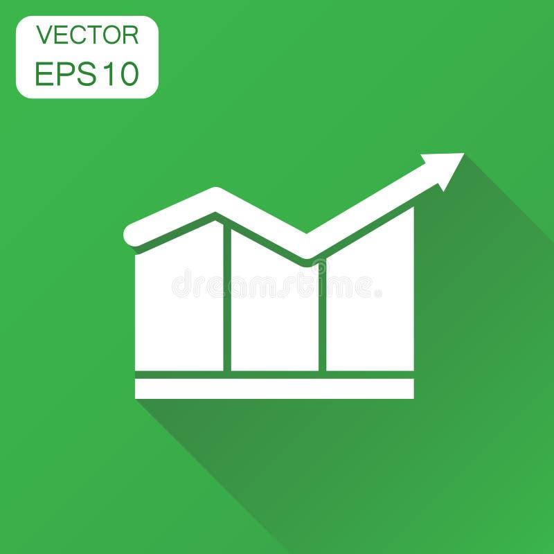 Значок диаграммы диаграммы диаграммы Пиктограмма диаграммы концепции дела Vect иллюстрация вектора