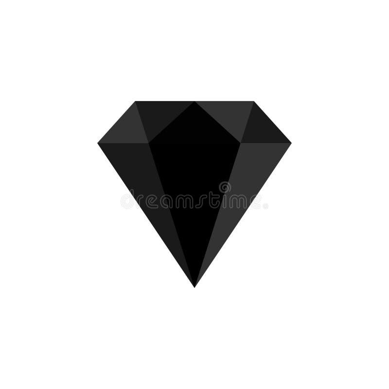 Значок диаманта также вектор иллюстрации притяжки corel Сияющий кристаллический знак Гениальный камень Обман зрения 3D Дизайн мод иллюстрация вектора