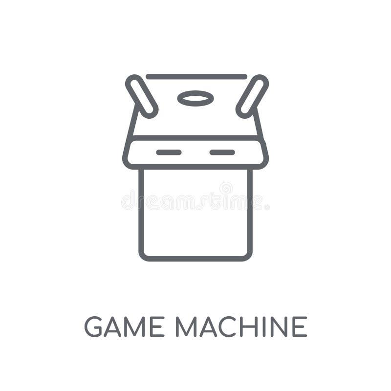Значок игрового автомата линейный Современное conce логотипа игрового автомата плана иллюстрация штока
