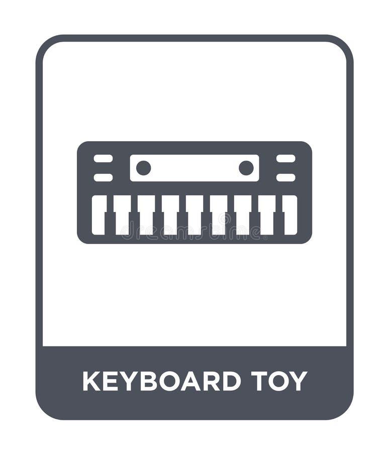 значок игрушки клавиатуры в ультрамодном стиле дизайна значок игрушки клавиатуры изолированный на белой предпосылке значок вектор иллюстрация вектора
