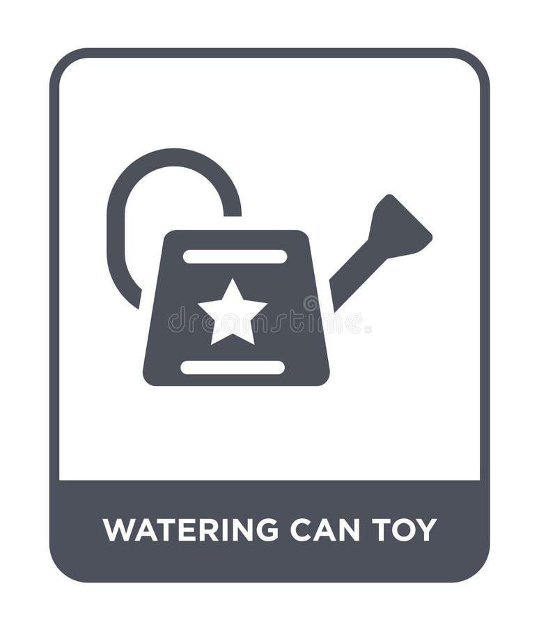 значок игрушки моча консервной банки в ультрамодном стиле дизайна значок игрушки моча консервной банки изолированный на белой пре иллюстрация штока