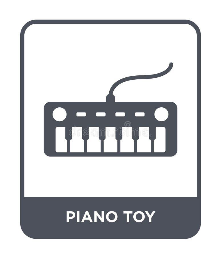 значок игрушки рояля в ультрамодном стиле дизайна значок игрушки рояля изолированный на белой предпосылке квартира значка вектора иллюстрация штока