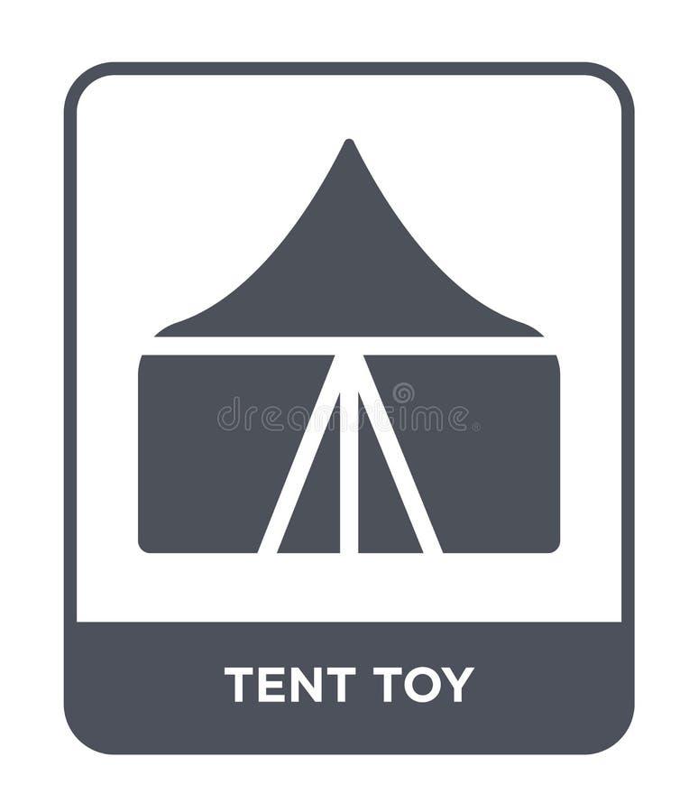 значок игрушки шатра в ультрамодном стиле дизайна значок игрушки шатра изолированный на белой предпосылке квартира значка вектора иллюстрация вектора
