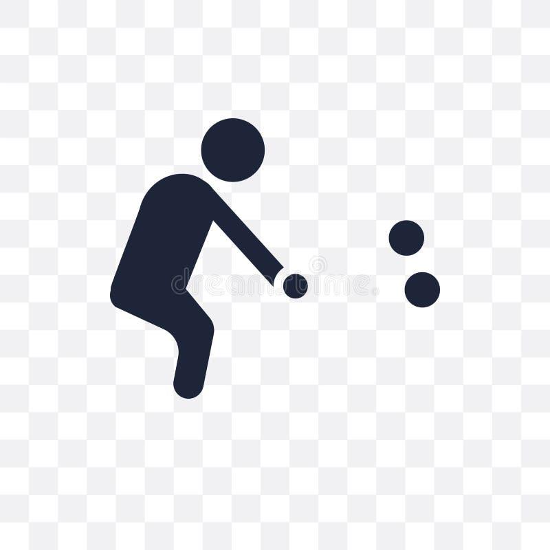 Значок игры в петанки прозрачный Дизайн символа игры в петанки от деятельности бесплатная иллюстрация