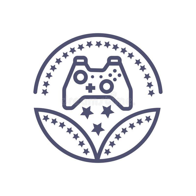 Значок игры знака вектора иконы награды игры для ваших дела или вебсайта иллюстрация штока