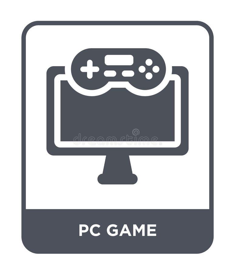 значок игры ПК в ультрамодном стиле дизайна значок игры ПК изолированный на белой предпосылке символ значка вектора игры ПК прост бесплатная иллюстрация