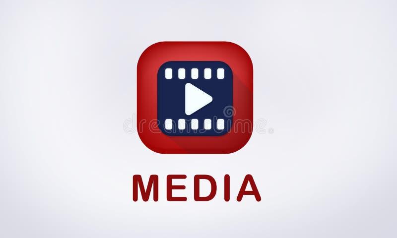 Значок игры средств массовой информации развлечений видео- иллюстрация вектора