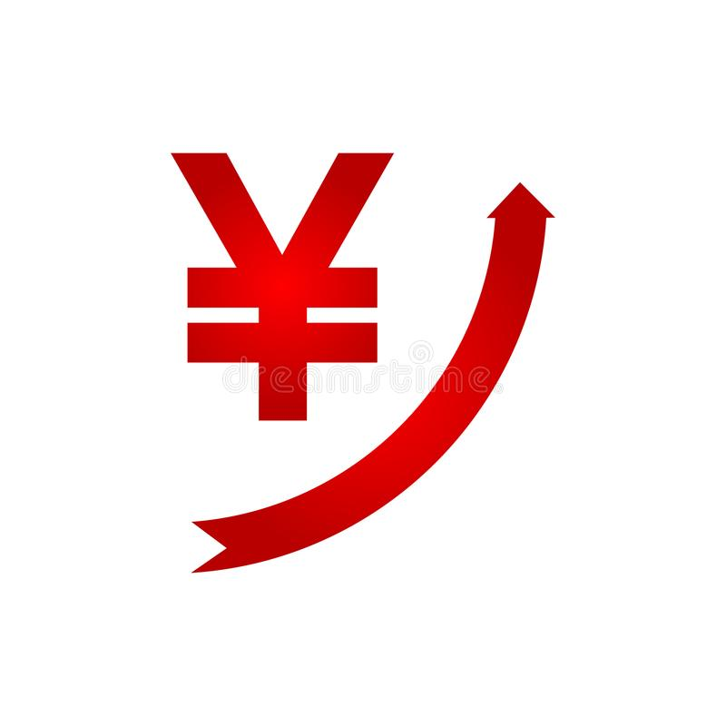 Значок иен роста иллюстрация штока