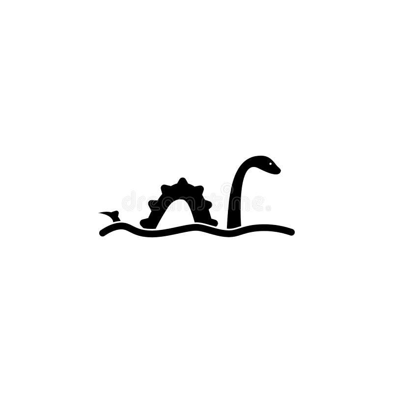 Значок изверга Лох-Несс Элемент значков культуры Великобритании Наградной качественный значок графического дизайна Знаки, colle с иллюстрация штока
