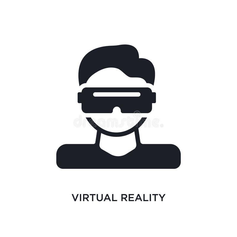 значок изолированный виртуальной реальностью простая иллюстрация элемента от умных значков концепции дома знак логотипа виртуальн иллюстрация штока