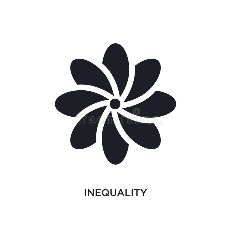 значок изолированный неравенством простая иллюстрация элемента от значков концепции зодиака дизайн символа знака логотипа неравен иллюстрация штока