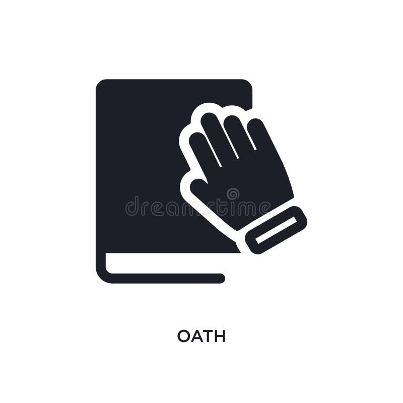 значок изолированный присягой простая иллюстрация элемента от политических значков концепции дизайн символа знака логотипа присяг иллюстрация вектора