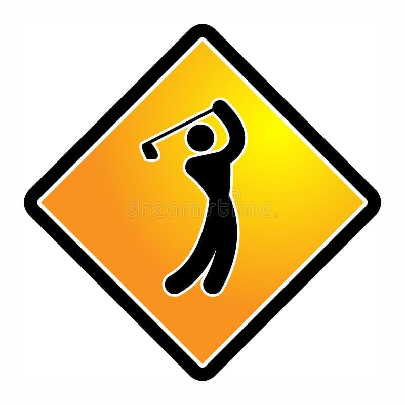 Значок или знак гольфа иллюстрация вектора