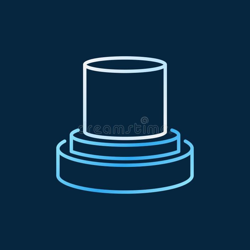 Значок или логотип вектора оптического волокна минимальные красочные линейные иллюстрация вектора
