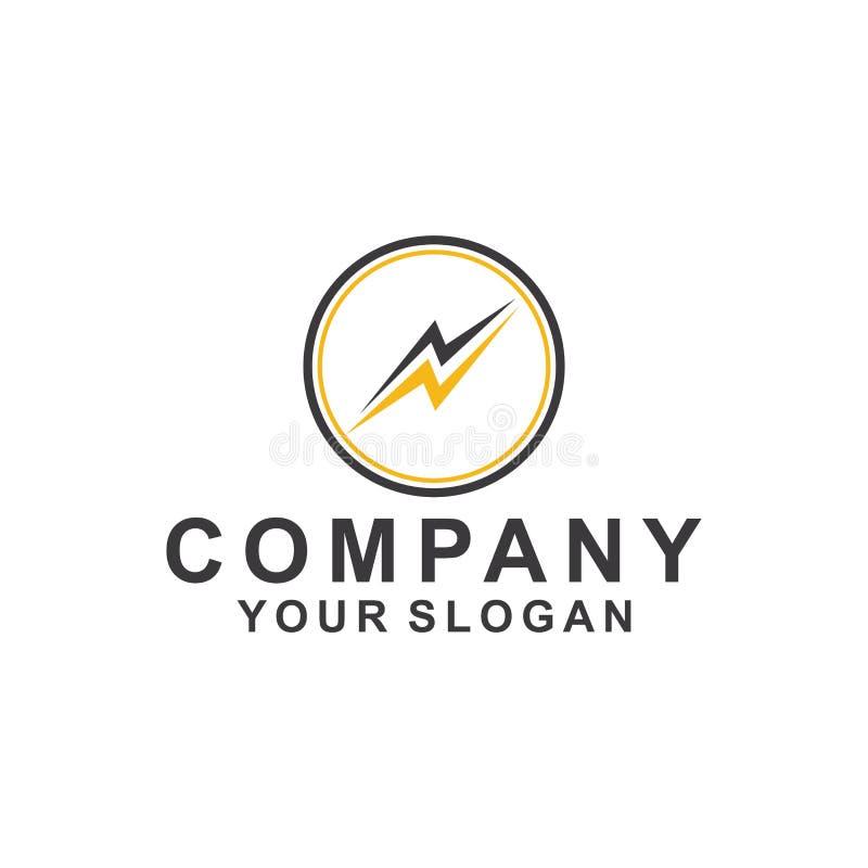 значок иллюстрации вектора дизайна шаблона логотипа энергии иллюстрация штока