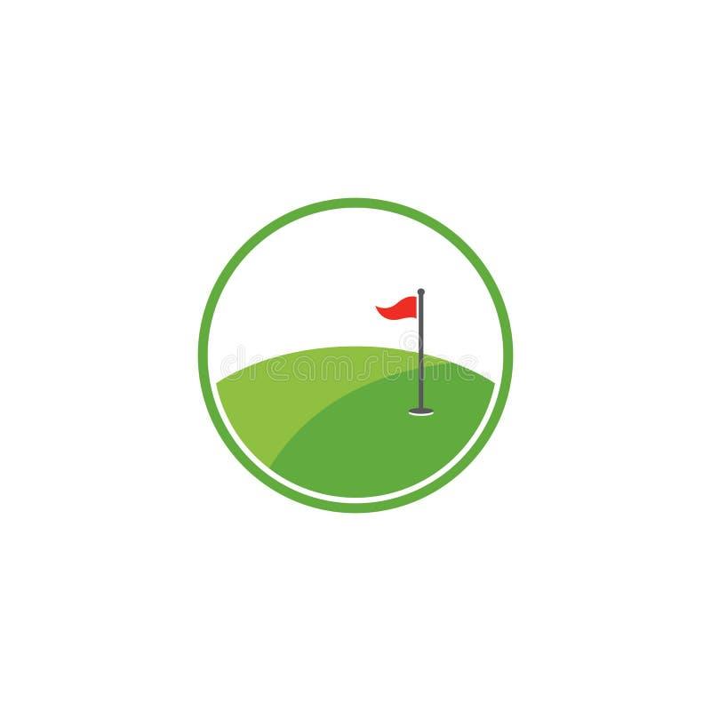 Значок иллюстрации вектора шаблона логотипа гольфа иллюстрация вектора
