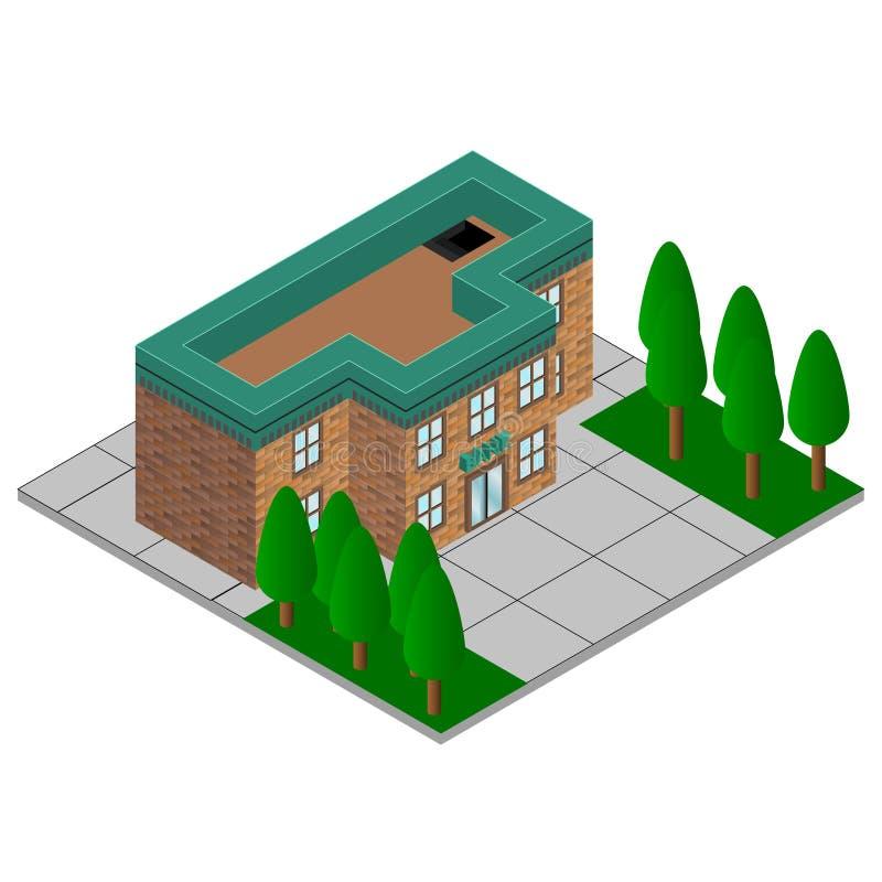 Значок иллюстрации здания финансов банка изолировал Символы дела и финансов равновелико бесплатная иллюстрация