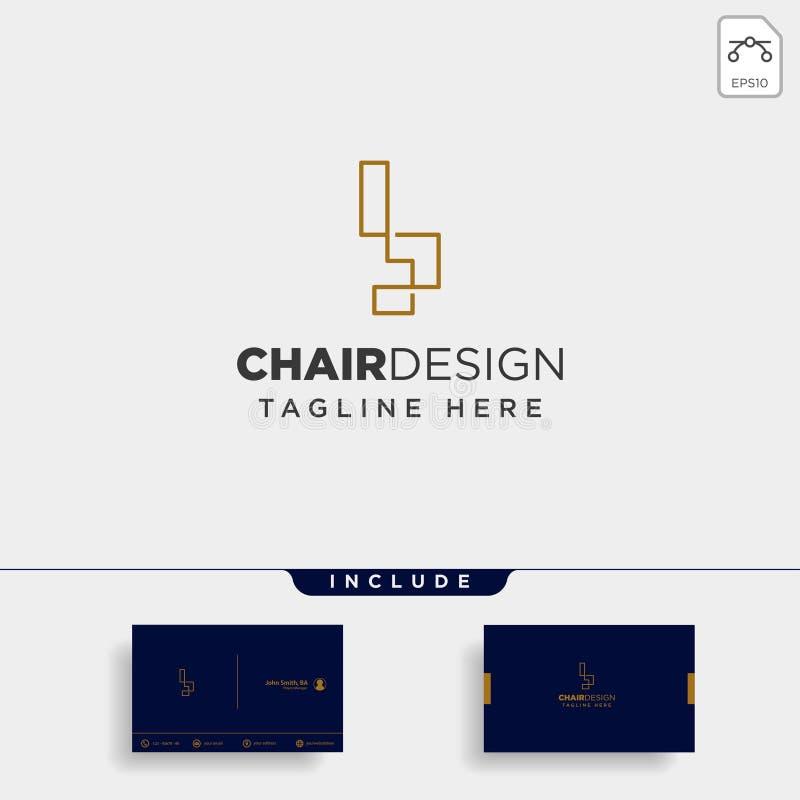 значок иллюстрации значка вектора дизайна логотипа стула изолировал иллюстрация вектора