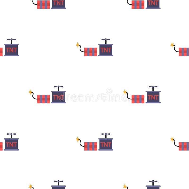 Значок динамита в стиле шаржа изолированный на белой предпосылке Иллюстрация вектора запаса картины шахты бесплатная иллюстрация