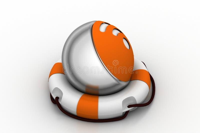 Значок интернета с lifebuoy иллюстрация вектора