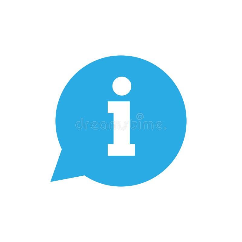 Значок информации, знак информации, иллюстрация вектора Плоский дизайн иллюстрация вектора