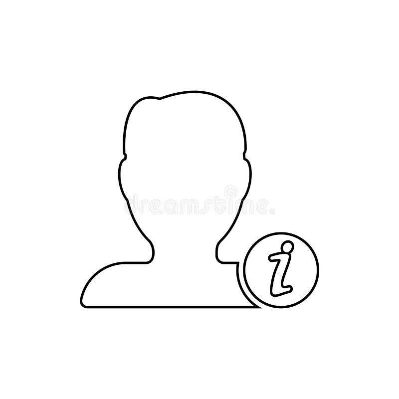 Значок информации о возможностях контактов Элемент сети для мобильных концепции и значка приложений сети Тонкая линия значок для  иллюстрация штока