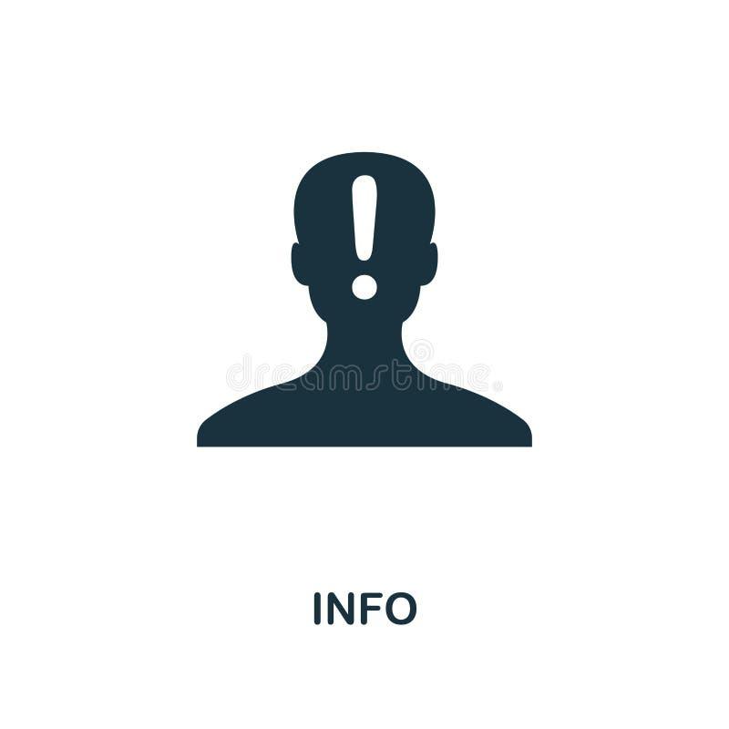 Значок информации творческий Простая иллюстрация элемента Дизайн символа концепции информации от контакта мы собрание Улучшите дл иллюстрация вектора