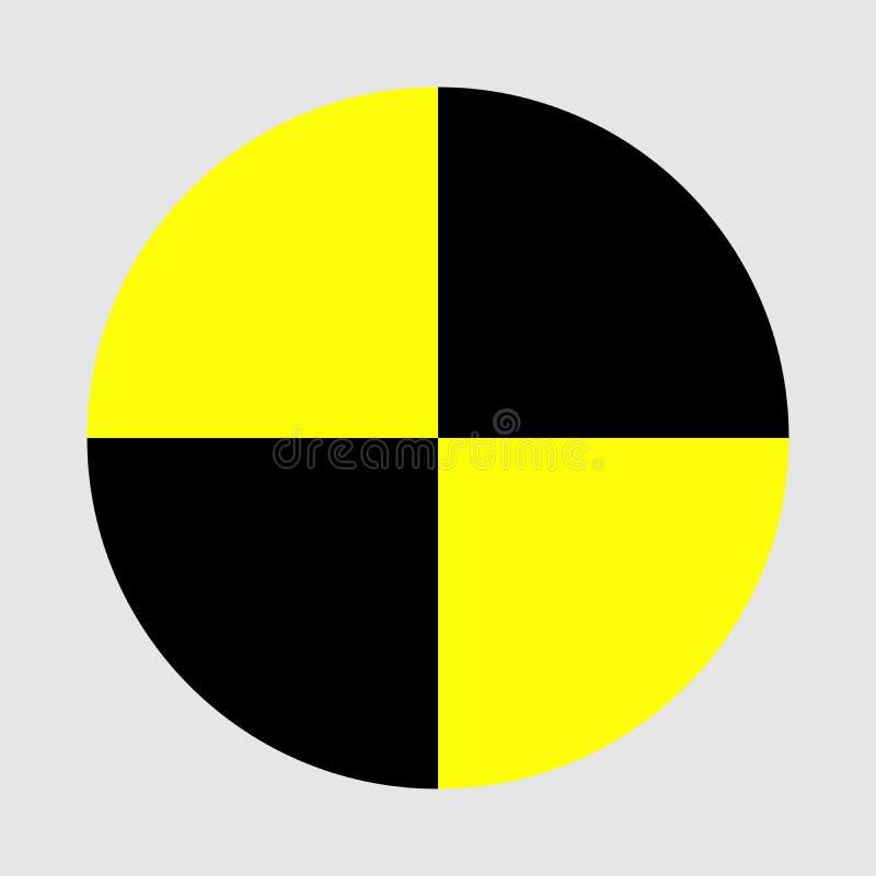 Значок испытания аварии изолированный на белой предпосылке Символ испытания аварии испытания безопасностью предохранения автомоби бесплатная иллюстрация