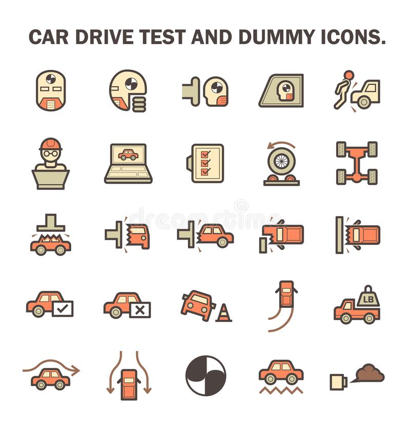 Значок испытания автомобиля иллюстрация штока