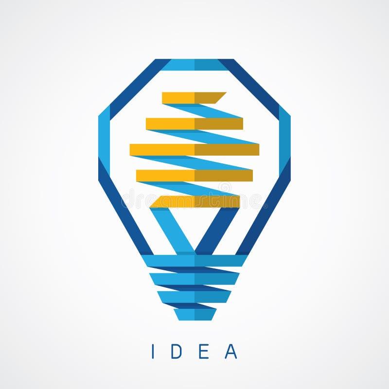 Значок идеи электрической лампочки иллюстрация вектора