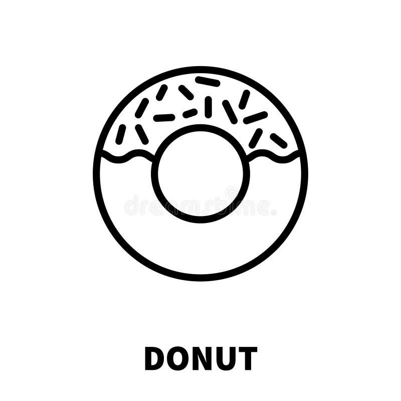 Значок или логотип донута в современной линии стиле бесплатная иллюстрация