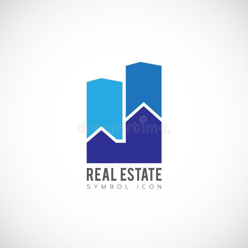 Значок или логотип символа концепции вектора недвижимости иллюстрация вектора