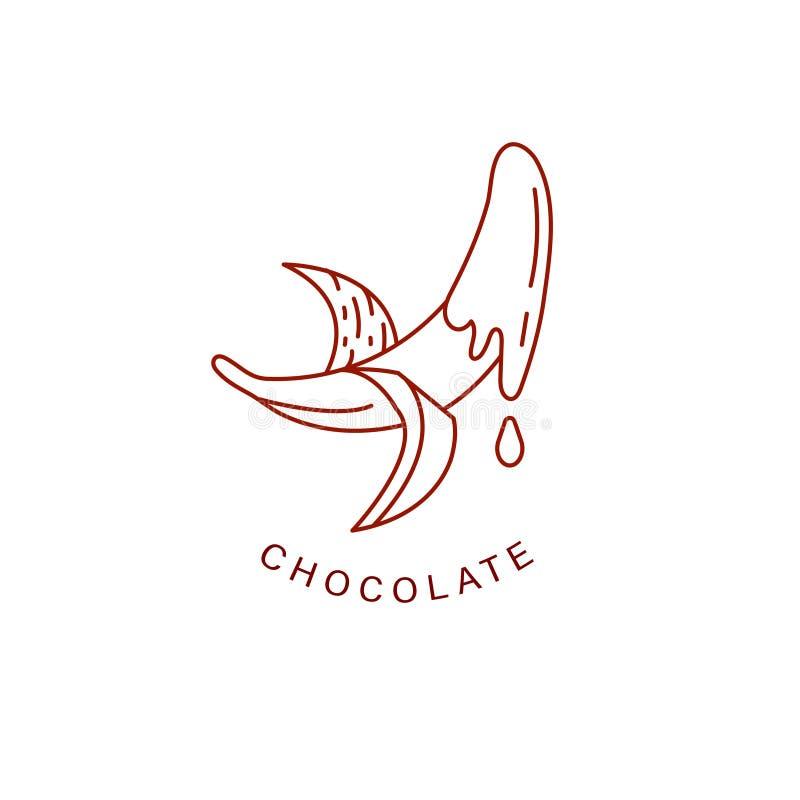 Значок и логотип вектора для шоколада и помадки бесплатная иллюстрация