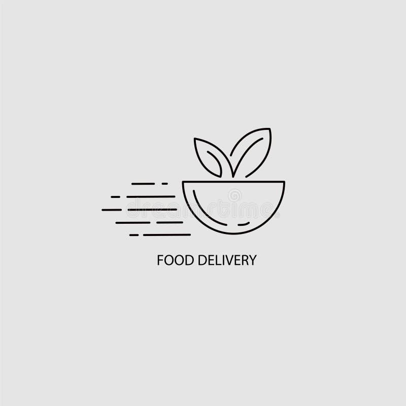 Значок и логотип вектора для deliwery еды онлайн бесплатная иллюстрация