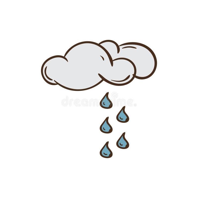 Значок и предпосылка погоды с плоским дизайном иллюстрация штока