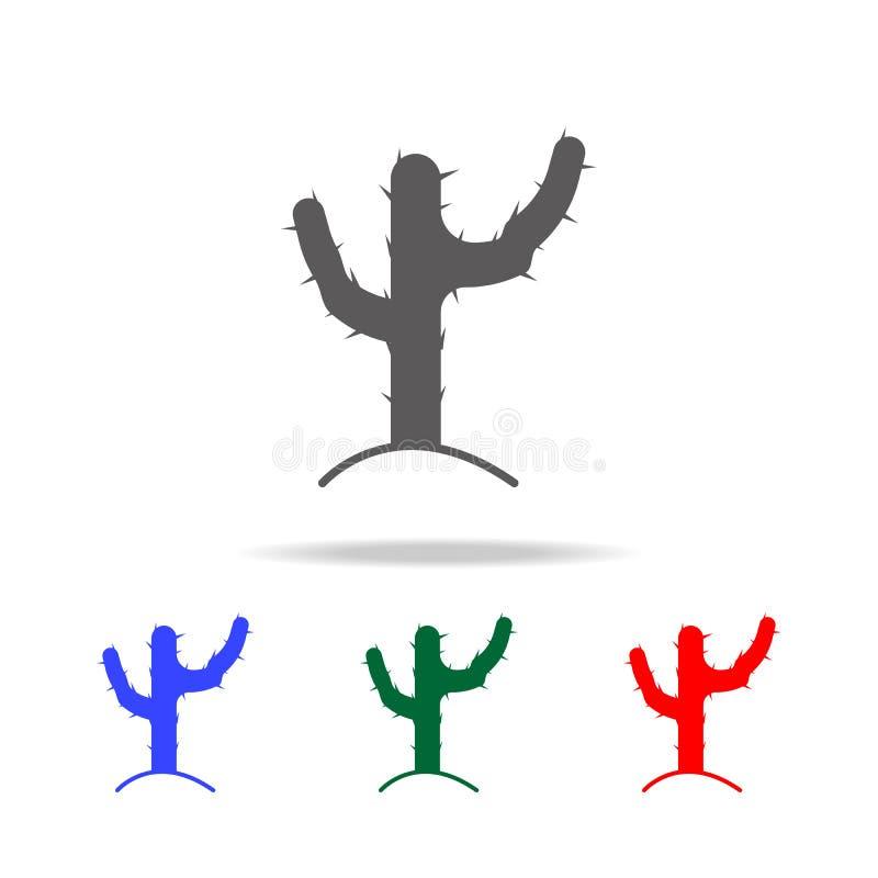 Значок кактуса Элементы культуры мексиканських multi покрашенных значков Наградной качественный значок графического дизайна Прост иллюстрация вектора