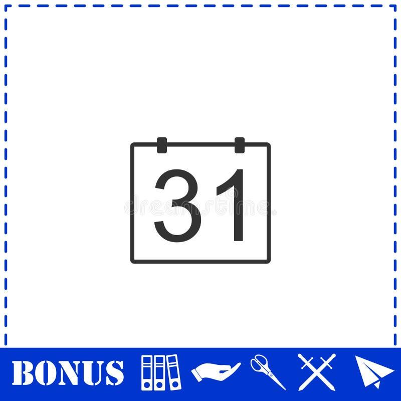 значок 31 календарного дня плоско иллюстрация штока