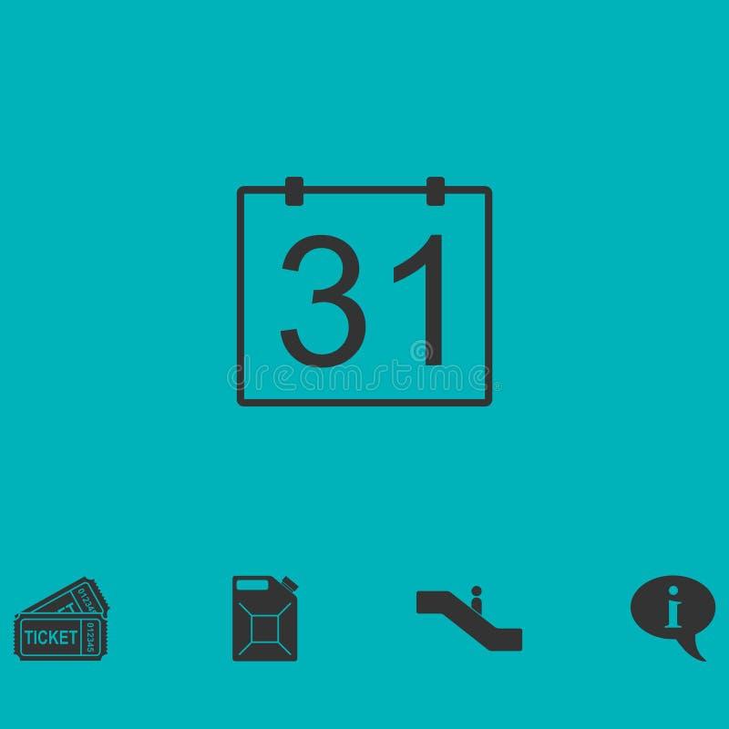 значок 31 календарного дня плоско бесплатная иллюстрация